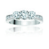 IMAGE OF 33-TR105 TRINITY DIAMOND RING_ 3 STONE CENTER WITH SIDE DIAMONDS