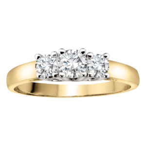image of 33-TR117 TRINITY DIAMOND RING_ 3 STONE PRONG SET DIAMONDS