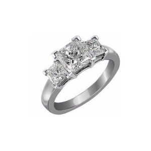 image of 33-TR119 TRINITY DIAMOND RING_ 3 STONE CHANNEL SET PRINCESS CUT DIAMONDS