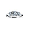 image of 33-TR151 TRINITY DIAMOND RING_ 0.75 CARAT TOTAL WEIGHT, 3 STONE PRONG SET DIAMONDS