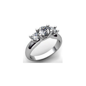 image of 33-TR152 TRINITY DIAMOND RING_ ONE CARAT TOTAL WEIGHT, 3 STONE PRONG SET DIAMONDS