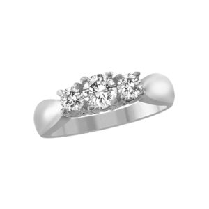 image of 33-TR153 TRINITY DIAMOND RING_ 0.50 CARAT TOTAL WEIGHT, 3 STONE PRONG SET DIAMONDS