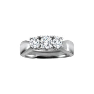 image of 33-TR154 TRINITY DIAMOND RING_ 0.75 CARAT TOTAL WEIGHT, 3 STONE PRONG SET DIAMONDS