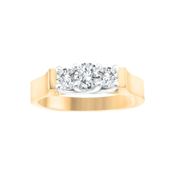 image of 33-TR155 TRINITY DIAMOND RING_ 0.33 CARAT TOTAL WEIGHT, 3 STONE PRONG SET DIAMONDS