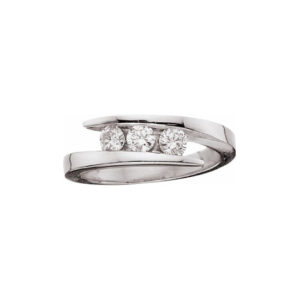 image of 33-TR158 TRINITY DIAMOND RING_ 0.33 CARAT TOTAL WEIGHT, 3 STONE CHANNEL SET DIAMONDS