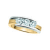 image of 33-TR159 TRINITY DIAMOND RING_ ONE CARAT TOTAL WEIGHT, 3 STONE CHANNEL SET DIAMONDS