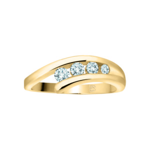 image of 33-TR160 TRINITY DIAMOND RING_ 3 STONE CHANNEL SET PRINCESS CUT DIAMONDS