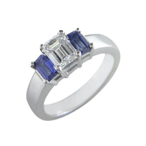 IMAGE OF 33-TR170 TRINITY DIAMOND RING_ TWO CARAT TOTAL WEIGHT, 3 STONE PRONG SET DIAMONDS