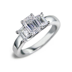 IMAGE OF 33-TR171 TRINITY DIAMOND RING_ TWO CARAT TOTAL WEIGHT, 3 STONE PRONG SET DIAMONDS