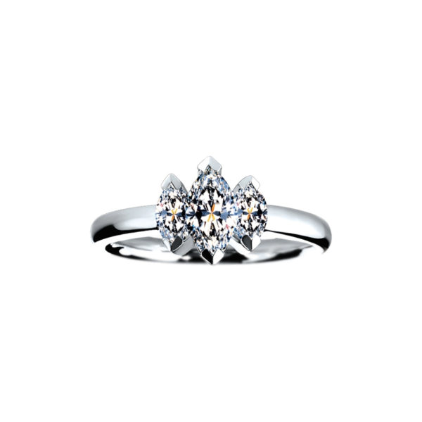 IMAGE OF 33-TR175 TRINITY DIAMOND RING_ ONE CARAT TOTAL WEIGHT, 3 STONE PRONG SET DIAMONDS