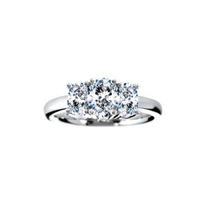 33-TR176 TRINITY DIAMOND RING_ ONE CARAT TOTAL WEIGHT OVAL diamonds, 3 STONE PRONG SET DIAMONDS