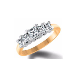 IMAGE OF 33-TR179 TRINITY DIAMOND RING_ ONE CARAT TOTAL WEIGHT, 3 STONE PRONG SET DIAMONDS