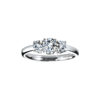 IMAGE OF 33-TR180 TRINITY DIAMOND RING_ ONE CARAT TOTAL WEIGHT, 3 STONE PRONG SET DIAMONDS