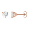 image of 51-3A60 DIAMOND EARRING AND PENDANTS_3 PRONG 0.60CT. ROUND BRILLIANT CUT SOLITAIRE DIAMOND STUDS