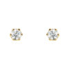 image of 51-6A-20 DIAMOND EARRING AND PENDANTS_3 PRONG 0.20CT. ROUND BRILLIANT CUT SOLITAIRE DIAMOND STUDS