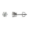 image of 51-6A-25 DIAMOND EARRING AND PENDANTS_3 PRONG 0.25CT. ROUND BRILLIANT CUT SOLITAIRE DIAMOND STUDS
