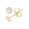 IMAGE OF 51-CR-50 DIAMOND EARRING AND PENDANTS_BEZEL STYLE 0.50CT. ROUND BRILLIANT CUT SOLITAIRE DIAMOND STUDS