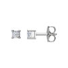 IMAGE OF 51-PR25 DIAMOND EARRING AND PENDANTS_0.25CT. PRINCESS CUT SOLITAIRE DIAMOND STUDS