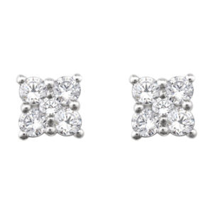 IMAGE OF 51-RA8 DIAMOND EARRING AND PENDANTS_0.40CT. ROUND BRILLIANT CUT DIAMOND EARRINGS
