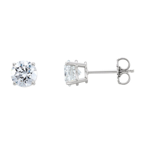 IMAGE OF 51-RD50 DIAMOND EARRING AND PENDANTS_0.50CT. ROUND BRILLIANT CUT SOLITAIRE DIAMOND STUDS