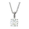 IMAGE OF 60-RD40 DIAMOND EARRING AND PENDANTS_0.40CT. ROUND BRILLIANT CUT SOLITAIRE DIAMOND PENDANT WITH CHAIN