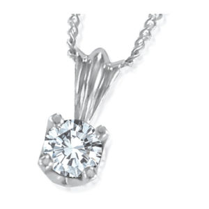 IMAGE OF 60-RD45 DIAMOND EARRING AND PENDANTS_0.45CT. ROUND BRILLIANT CUT SOLITAIRE DIAMOND PENDANT WITH CHAIN