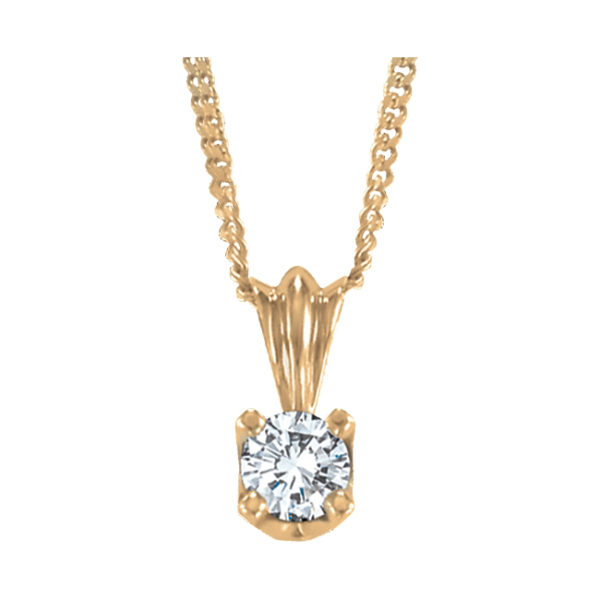 image of 60-RD65 DIAMOND EARRING AND PENDANTS_0.65 CT. ROUND BRILLIANT CUT SOLITAIRE DIAMOND PENDANT WITH CHAIN