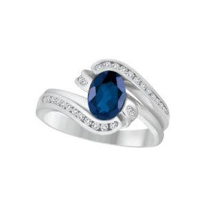 IMAGE OF 71-539 LADIES STONES RINGS_SAPPHIRE AND DIAMOND RING