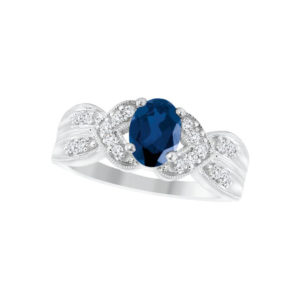 IMAGE OF 71-95 LADIES STONES RINGS_SAPPHIRE-RUBY OR EMERALD AND DIAMOND RING