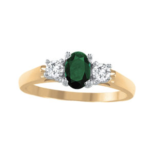 IMAGE OF 71-95E LADIES STONES RINGS_SAPPHIRE-RUBY OR EMERALD AND DIAMOND RING