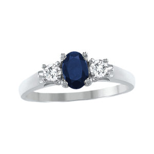 IMAGE OF 71-95S LADIES STONES RINGS_SAPPHIRE-RUBY OR EMERALD AND DIAMOND RING