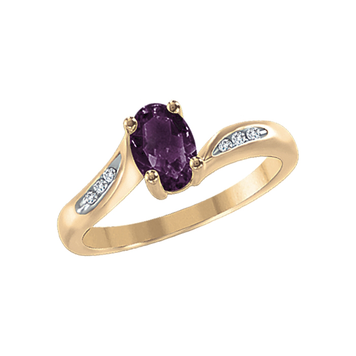 image of 71-L086 LADIES STONES RINGS_GENUINE STONES AND DIAMOND RING
