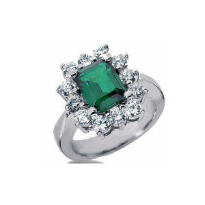 IMAGE OF 75-365 LADIES STONE RINGS_GENUINE EMERALD AND DIAMONDS