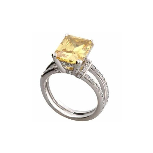 IMAGE OF 75-800 LADIES STONE RINGS_GENUINE YELLOW TOPAZ AND DIAMONDS