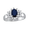IMAGE OF 75-950 LADIES STONES RINGS_SAPPHIRE AND DIAMOND RING