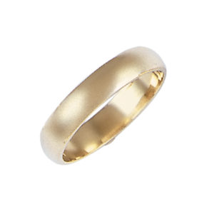 image of 11-101 Plain wedding bands_4mm dome shape high polished comfort fit