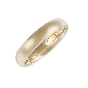 image of 11-105 Plain wedding bands_4mm low dome shape high polished comfort fit