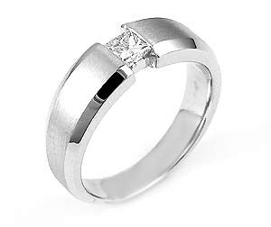 image of 21-5558 Men Diamond wedding bands_White gold set with total of 0.35ct. princess cut diamonds