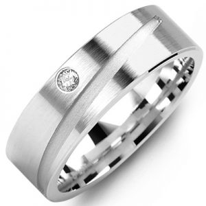image of 21-659 Men Diamond wedding bands_White gold set with total of 0.05ct. total weight_