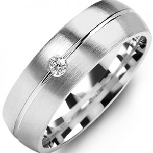 image of 21-660 Men Diamond wedding bands_White gold set with total of 0.05ct. total weight_