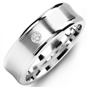 image of 21-663 Men Diamond wedding bands_White gold set with total of 0.05ct. total weight_