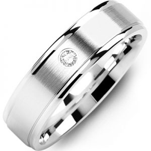 images of21-666 Men Diamond wedding bands_White gold set with total of 0.05ct. total weight_
