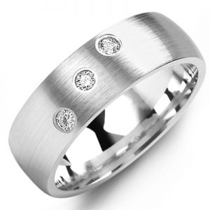 image of 21-667 Men Diamond wedding bands_White gold set with total of 0.10ct. total weight_