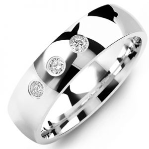 image of 21-668 Men Diamond wedding bands_White gold set with total of 0.09ct. total weight_