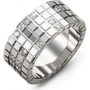 image of 21-700 Men Diamond wedding bands_White gold set with total of 30 diamonds round cut 0.35ct. total weight_
