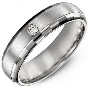 image of 21-720 Men Diamond wedding bands_White gold set with total of 1 diamonds round cut 0.05ct. total weight_