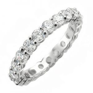 image of 33-503 DIAMOND BANDS_FULL ETERNITY RING SET WITH TOTAL WEIGHT OF TWO CARATS_K-475 3.40g in 14K