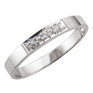 image of 33-504 DIAMOND BANDS_MOST AFFORDABLE DIAMOND BAND SET WITH 3 DIAMONDS WITH TOTAL WEIGHT OF 10 POINTS_K-517