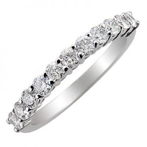 image of 33-506 DIAMOND BANDS_SET WITH 11 DIAMONDS WITH TOTAL WEIGHT OF HALF CARAT_K-315