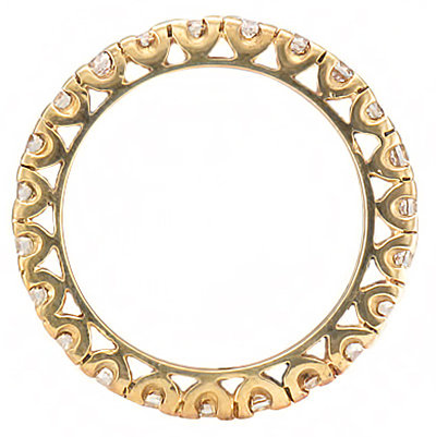 image of 33-513B DIAMOND BANDS_YELLOW GOLD FULL ETERNITY RING SET WITH TOTAL WEIGHT OF THREE CARAT_RM-357 3.21g in 14kt 3.2mm wide 2.5mm DIAMONDS_3